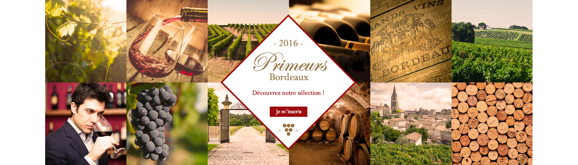 Inscription Primeurs Bordeaux 2016